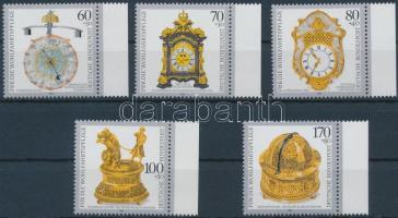 1992 Értékes régi órák ívszéli sor Mi 1631-1635