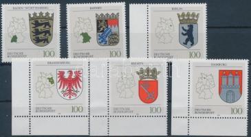 1992 Címerek sor Mi 1586-1591