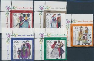 1994 Népviselet ívsarki sor Mi 1757-1761