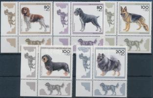 1995 Kutyák ívsarki sor Mi 1797-1801