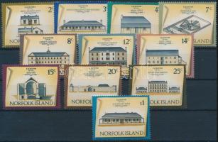 1973 Házak sor 30c és 50c nélkül Mi 136-147 + 150