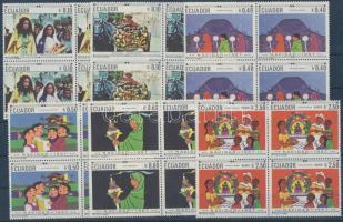 1967 Karácsonyi szokások sor négyestömbökben Mi 1392-1397