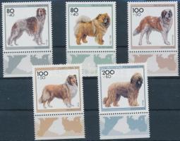 1996 Kutyák ívszéli sor Mi 1836-1840