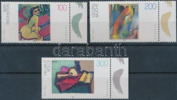 1996 Festmények ívszéli sor Mi 1843-1845