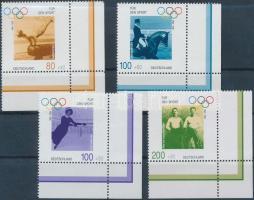 1996 Sporthilfe: 100 éves az Újkori Olimpia ívsarki sor Mi 1861-1864