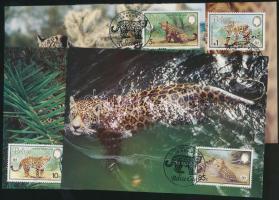1983 WWF jaguár sor Mi 719-722 4 CM