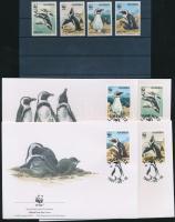 1997 WWF Pápaszemes pingvin sor + 4 FDC Mi 837-840