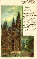 1899 Vienna, Wien, Rathaus; Verlag Karl Sütckers Kunstanstalt / Town hall, litho s: Rosenberger