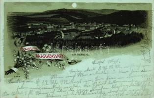 Marianske Lazne, Marienbad; Verlag von Louis Glaser, litho
