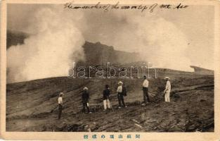 Mount Aso with smoking top