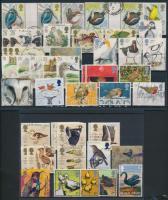 1980-2005 50 db Madár motívumú bélyeg 2 stecklapon