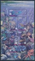 World Environment Day: Sea animals 3 pairs + block set, Környezetvédelmi világnap: Tengeri állatok 3 pár + blokksor