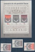 1984 100 éves a makaói bélyeg sor Mi 514-516 + blokk Mi 2