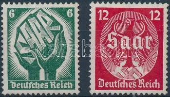 1934 Saar vidék sor Mi 544-545
