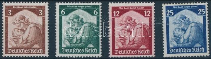 1935 Saar népszavazás sor Mi 565-568 (Mi 565 betapadás nyom)