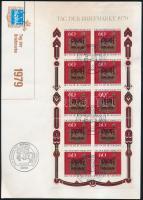 Stamp day minsiheet on FDC, Bélyegnap kisív FDC