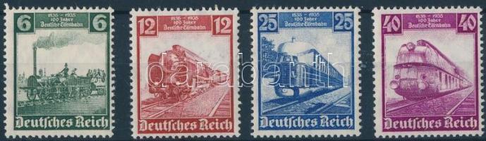 1935 100 éves a német vasút sor Mi 580-583
