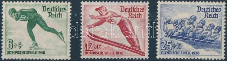 1935 Téli Olimpia sor Mi 600-602