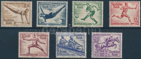 1936 Nyári Olimpia, Berlin 7 érték Mi 609-611, 613-616 (Mi 615 betapadás)