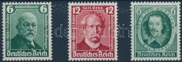 1936 Híres emberek Mi 604-605 + 608