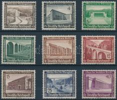 1936 Téli segély, Modern építészet sor Mi 634-642