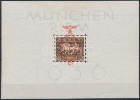 1936 Müncheni lóverseny blokk felülnyomással Mi 10