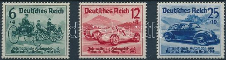 1939 Autó- és motorkiállítás sor Mi 686-688