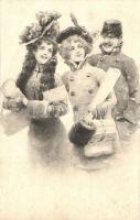 Ladies with gentleman, B.K.W.I. No. 2002/3., Hölgyek úriemberrel, B.K.W.I. No. 2002/3.