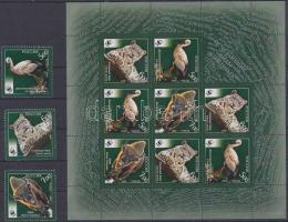 2007 WWF veszélyeztetett állatok sor + kisív Mi 1434-1436