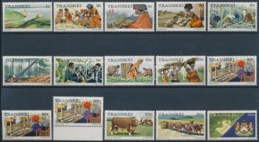 Definitive 15 stamps, 15 db Forgalmi bélyeg