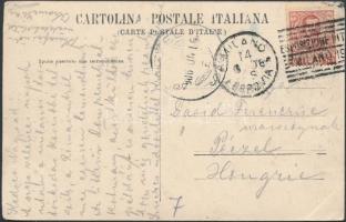 1906 Képeslap a milánói nemzetközi kiállítás alkalmi bélyegzőjével