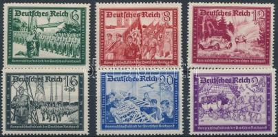 1941 Posta Bajtársi Szövetség (II) sor Mi 773-778 (Mi 773 betapadás)
