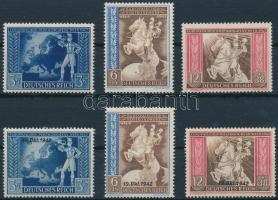 1942 Postakongresszus 2 db sor Mi 820-822 + 823-825