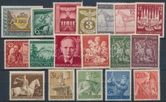 1943 18 db bélyeg, közte teljes sorok