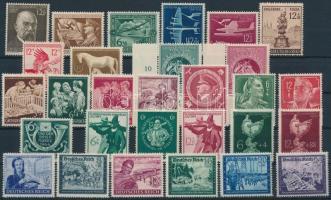 1944 29 db bélyeg, közte teljes sorok és ívszéli értékek