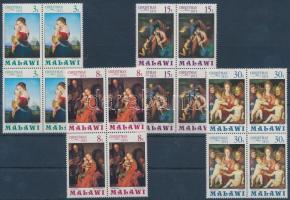 1971 Madonna festmények sor négyestömbökben Mi 174-177