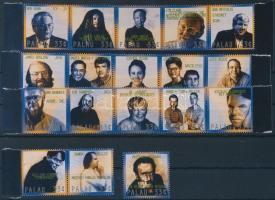 Famous people 18 diff stamps, Híres emberek 18 klf érték