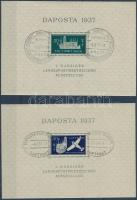 1937 DAPOSTA bélyegkiállítás blokksor Mi 1-2