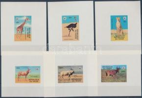 1978 WWF veszélyeztetett állatok sor vágott blokk formában Mi 633-638