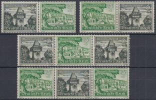 1939 Tájképek 4 db bélyegfüzet összefüggés Mi W 136-139