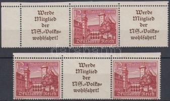 1939 Tájképek 2 db bélyegfüzet összefüggés Mi W 141, 143