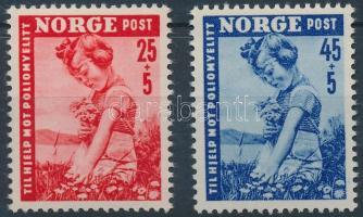 1950 Kampány a gyermekbénulás ellen sor Mi 351-352