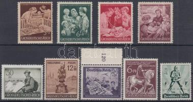 1940-1945 9 db klf bélyeg, közte sor