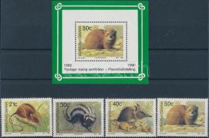 Mammals set + block, Emlős állatok sor + blokk