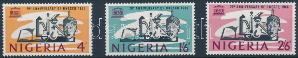1966 20 éves az UNESCO sor Mi 195-197
