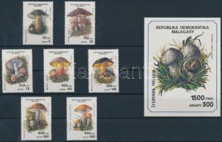 1990 Gomba sor Mi 1288-1294 + blokk 154