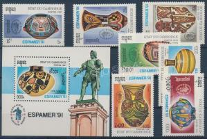 ESPAMER'91 stamp exhibition set + block, ESPAMER´91 bélyegkiállítás sor + blokk