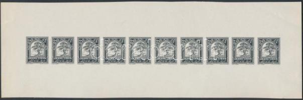 1925 Mi 58 fekete próbanyomat 10-es ívben