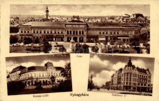 Nyíregyháza, Korona szálló, Széchenyi út, Fő tér