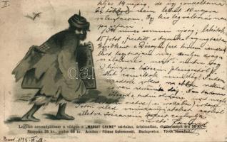 1899 Zigeuner-Typen / wandering gypsy, litho, 1899 Czigányéletből - Margit Creme reklám, Rigler Rt. litho